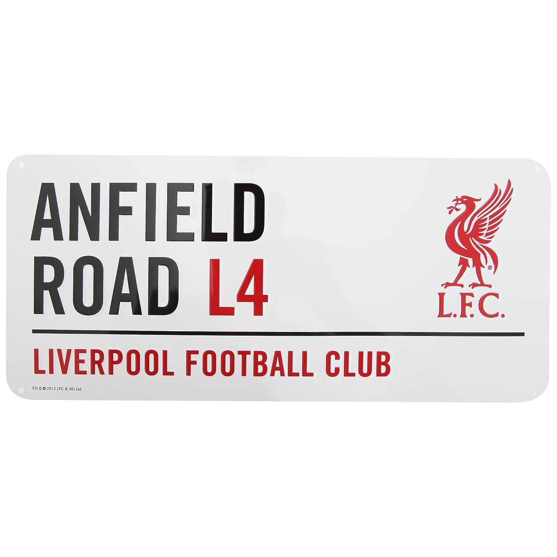 Liverpool FC - Panneau officiel (Taille unique) (Blanc/Noir/Rouge) UTSG663_1