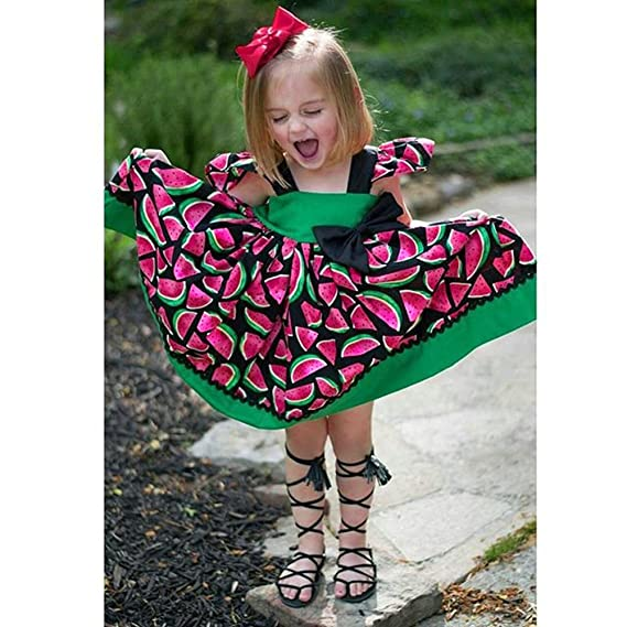 Amazon.com: Birdfly Toddler Infant 1-3T Baby Girl Watermelon Pattern Cute Ball Gown Dress with Bowknot.: Clothing