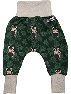 Made in Germany Lilakind Jungen Pumphose Hose Babyhose Jersey Tiermuster Zootiere