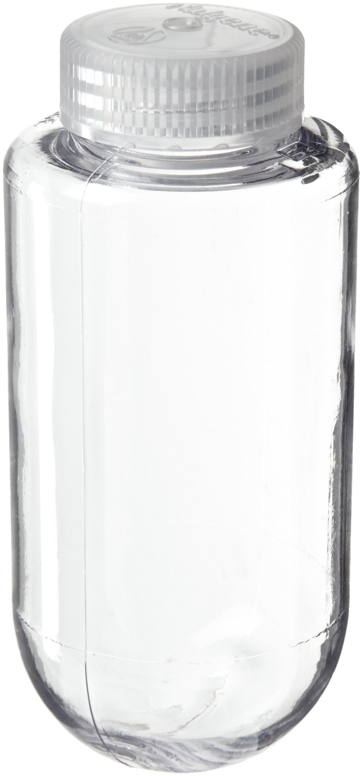 Nalgene 3123-0250 Polycarbonate Spherical Bottom 250mL Centrifuge Bottle with Polypropylene Screw Closure, Max Rating 27500 x g (Pack of 4)