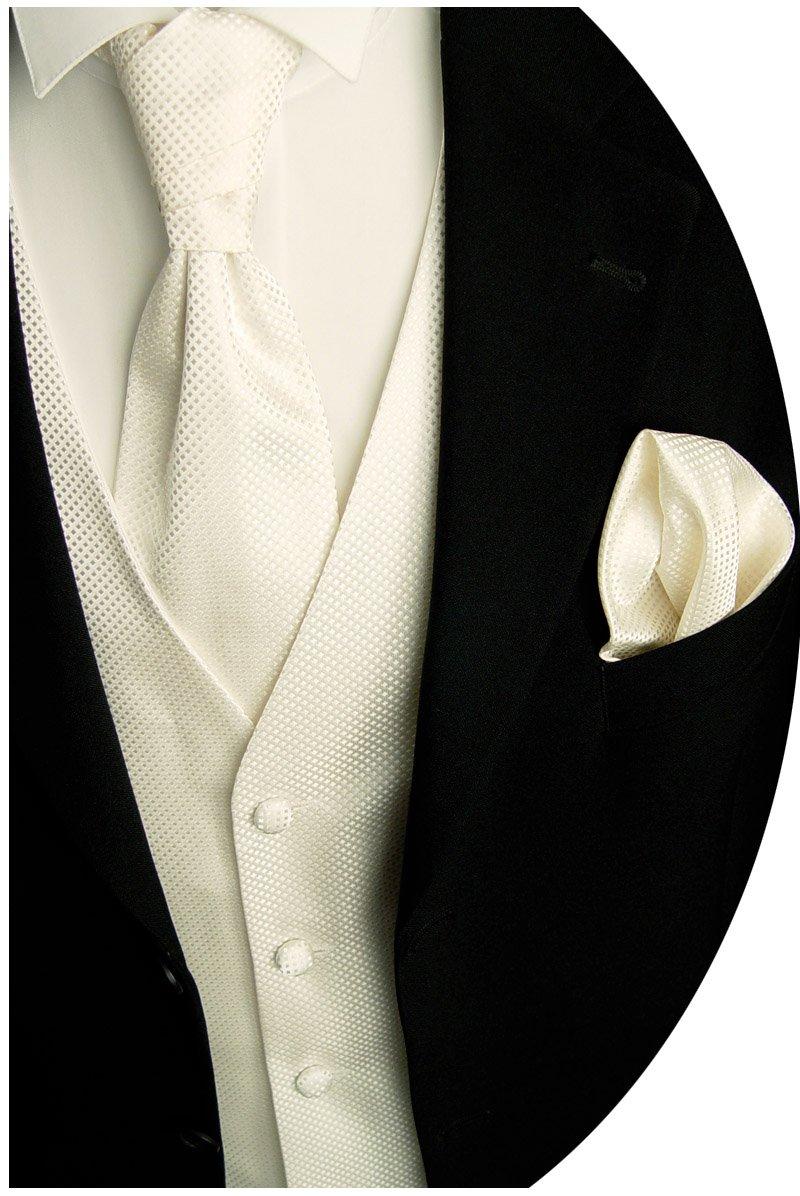 BEYTNUR Hochzeitsweste mit Plastron, Einstecktuch u. Krawatte Nr.14.1, Gr. 44-114 W 14.1 Größe: 44 -114