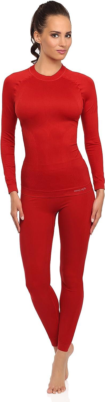 Merry Style Femme sous-v/êtements Fonctionnels Cale/çon Plus Shirt /à Manches Longues Thermo Actif 06 110 120