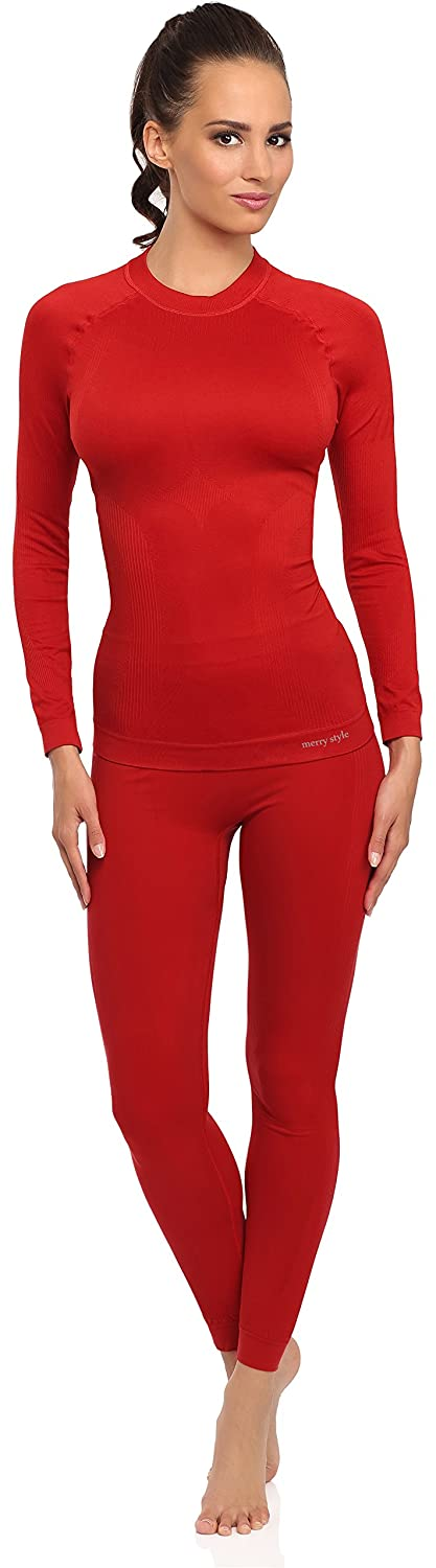 Merry Style Women's Functional Thermo Active Underwear Long Johns Plus Long Sleeve Shirt 06 110 120