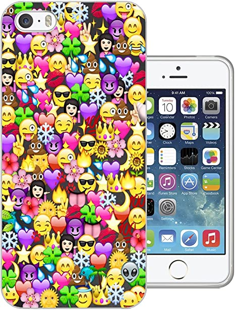 C1059 Cool Fun Funny Emoji Wallpaper Crown Princess Poop Devil Smiley Love Heart Design Iphone 5c Fashion Trend Case Gel Rubber Silicone All Edges Protection Case Cover Amazon Co Uk Electronics
