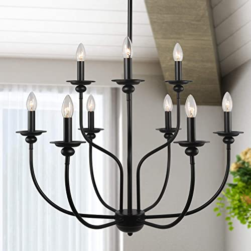 LALUZ Black Chandelier