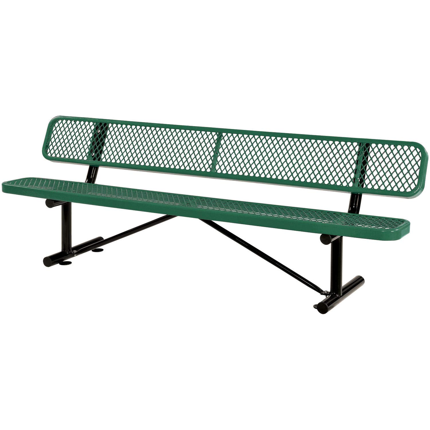 96 Bench with Back Rest, Green