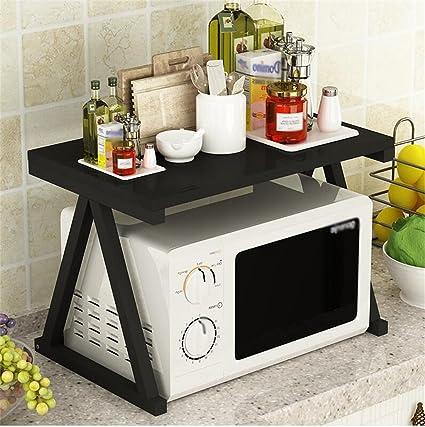 Amazon.com: Rack Shelf Kitchen Metal Shelves Microwave Oven ...