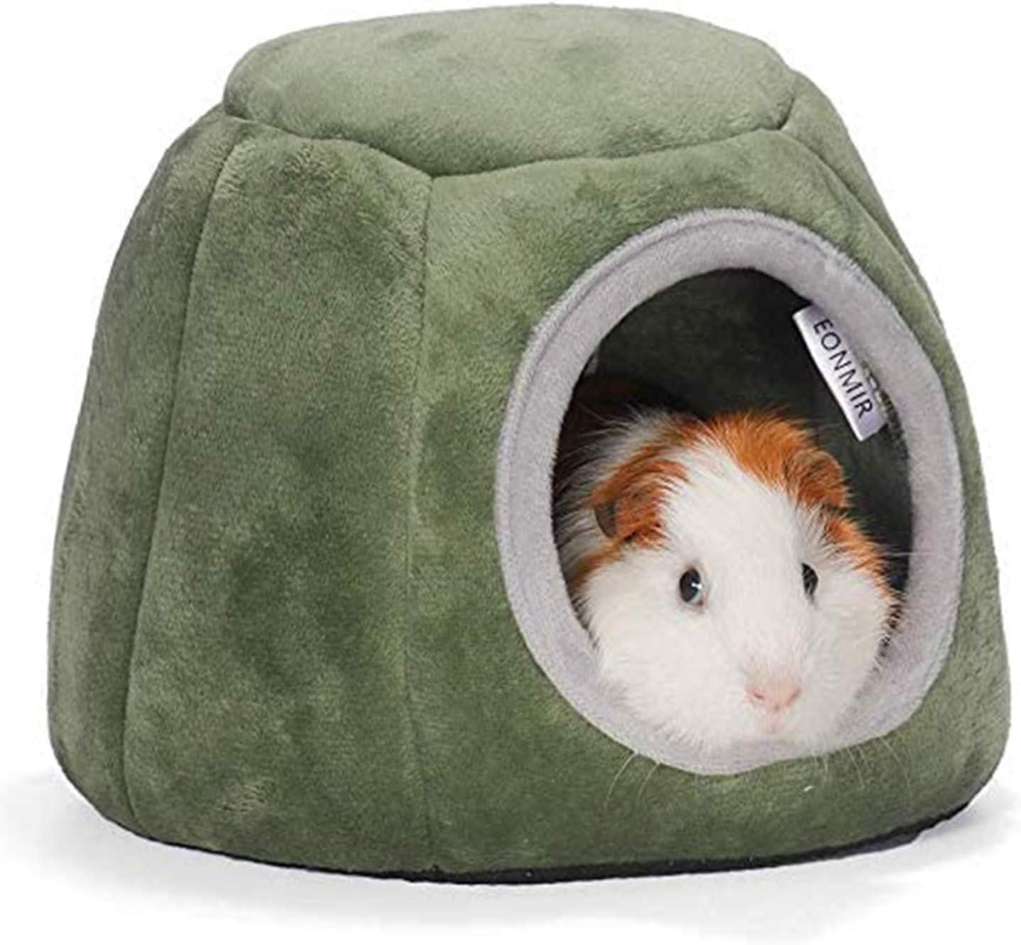 Cama de conejillo de indias para hámster casa pequeña de ardilla para dormir nido de algodón erizo hurones para cueva de dormir juguete (20 x 16 cm, diámetro de entrada de la cueva de 10 cm)