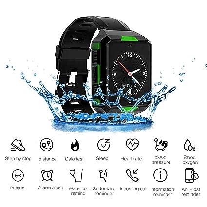 JASZHAO Reloj Deportivo, Reloj Inteligente 4G Android 6,0 MTK6737 1G + 8G SmartWatch