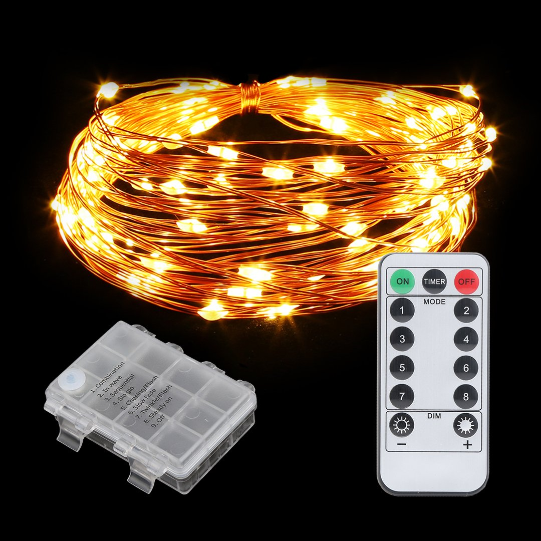 Led String Lights Remote Control : String Lights 8 Modes Remote Control 100LEDs 10Meter FoYoung Fairy LED Lights eBay