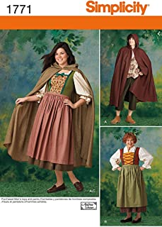 product image for Simplicity 1771 Women's and Men's Halloween and Ren Faire Costume Sewing Pattern, Women's Sizes 8-18 and Men's Sizes XS-XL