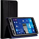HP Elite X3 Case, TopACE PU Leather Case With Stand Function for HP Elite X3 (Black)