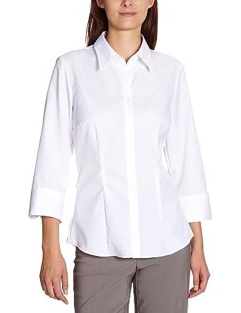 d3e6183a03857a Seidensticker Damen Bluse - Bügelfreie, leicht taillierte Hemdbluse mit  Hemdblusenkragen für optimalen Tragekomfort - 3