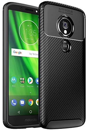 wholesale dealer 0b807 60c50 Case Collection Brushed Carbon Fiber Back Design Cover for Motorola Moto G6  Play Case Slim-Fit Shock Absorption Anti Scratch Protective TPU Bumper for  ...