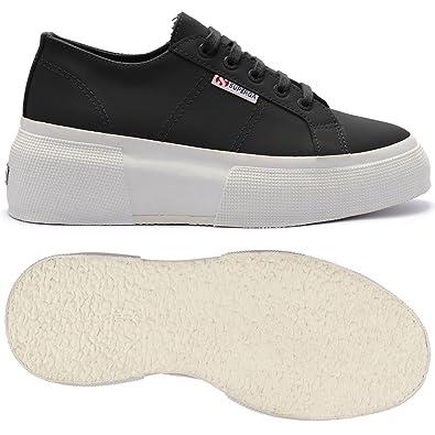 finest selection 858f9 c73db Superga , Damen Sneaker Schwarz Schwarz 41 EU, Schwarz ...