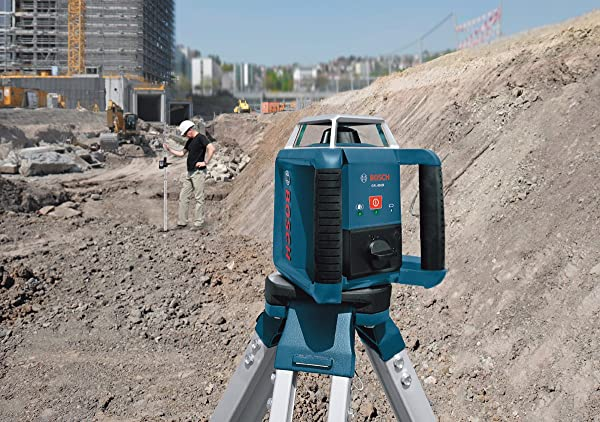 Use Bosch GRL400HCK rotary laser outdoor