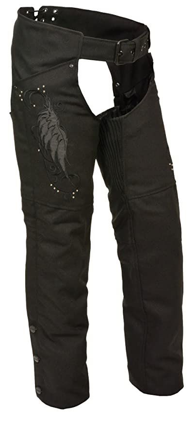 Black//Red, 4X-Large Milwaukee Performance Womens Doublon Chaps with Wings