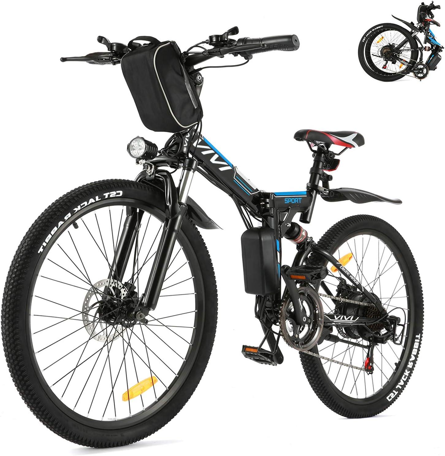 VIVI 26INCH 350W Electric Bike Mountain Bicycle EBike SHIMANO 21 Speed 36V Lot.