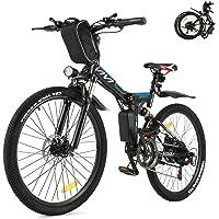 VIVI Folding Electric Bike, Electric Mountain Bike 350W Ebike 26'' Electric Bike for Adults, 36V 8Ah Removable Battery…