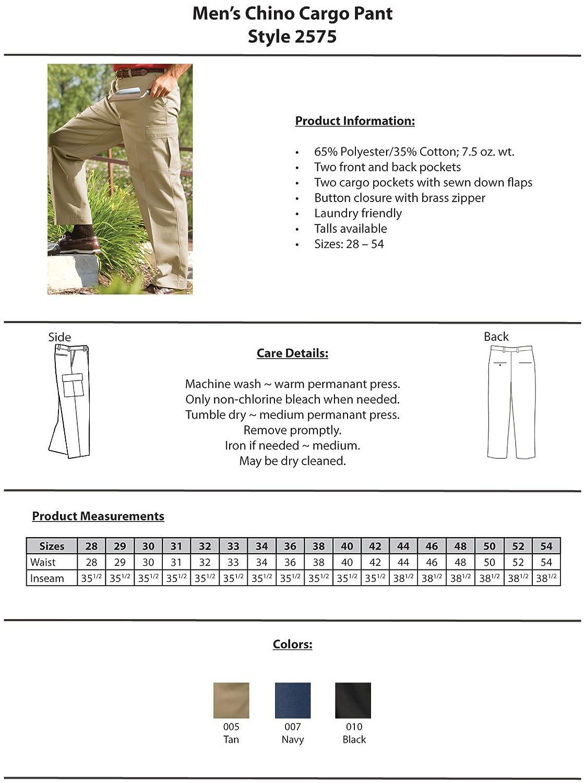Ed Garments Mens Big And Tall Button Closure Chino Pant 42 29 TAN