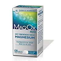 Mag-Ox 400 Magnesium Mineral Dietary Supplement Tablets, 483 mg Magnesium Oxide,...