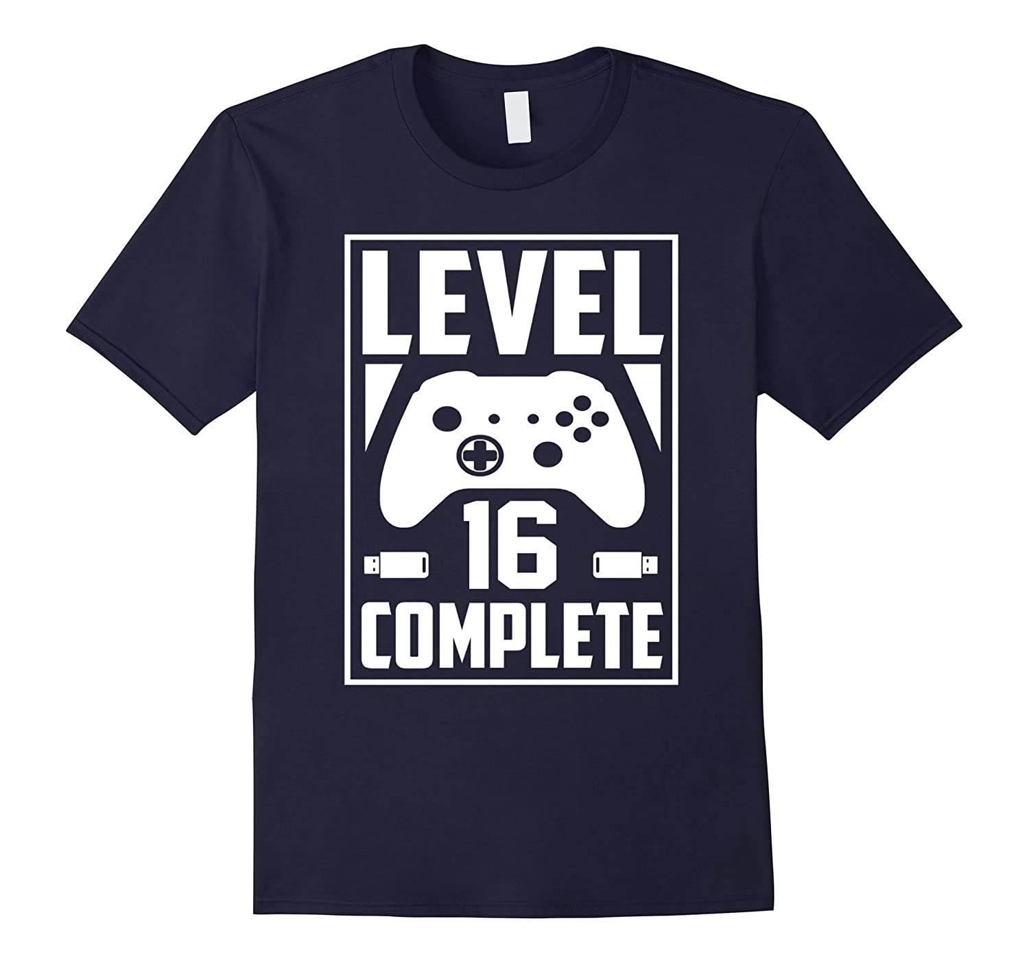 Level 16 Complete Video Gamer Geek Boys 16th Birthday Shirt TD