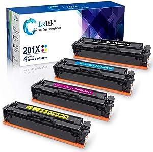 LxTek Compatible Toner Cartridge for HP 201X 201A CF400A CF400X Pro M252dw M277dw M277c6 Ink for HP Laserjet Pro MFP M277dw M252dw M277c6 M277n M252n