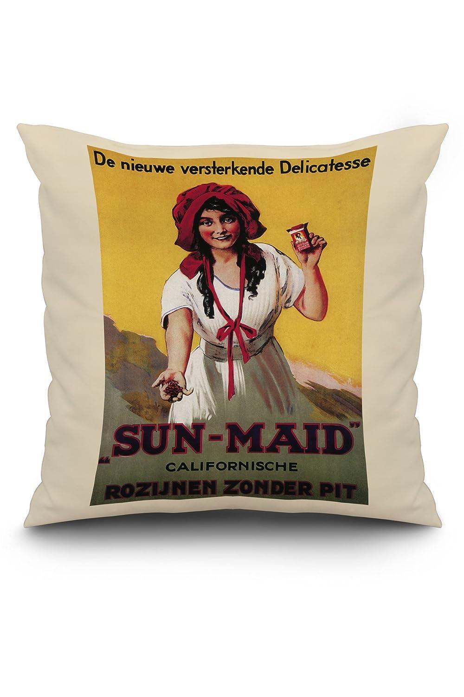 Dutch – sun-maid California Raisinポスター 20 x 20 Pillow (Natural Border) LANT-3P-PW-NL-11280-20x20 20 x 20 Pillow (Natural Border)  B01MYSS9OU