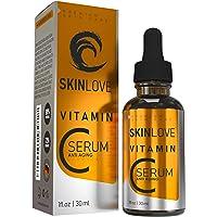 30% vitamine C serum met hyaluron, vitamine E, jojoba-olie, hooggedoseerd, anti-rimpel gezichtsserum, natuurlijke…