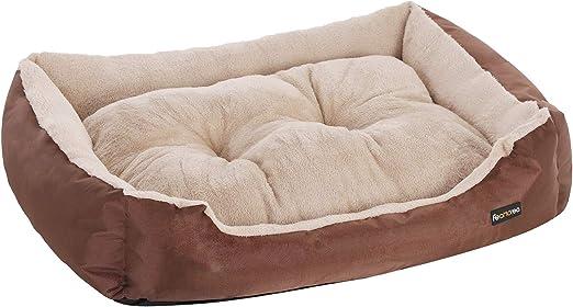 FEANDREA Cama para Perro, Sofá para Perro, 85 x 65 x 21 cm, Marrón PGW04Z: Amazon.es: Productos para mascotas