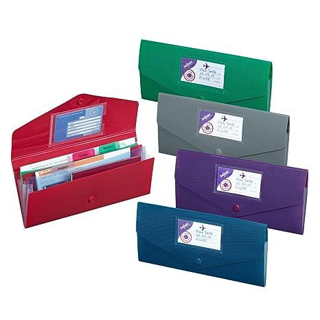 b908c281d4b4 Amazon.com : 10x Snopake DL Coloured Fusion Travel Stud Wallets ...