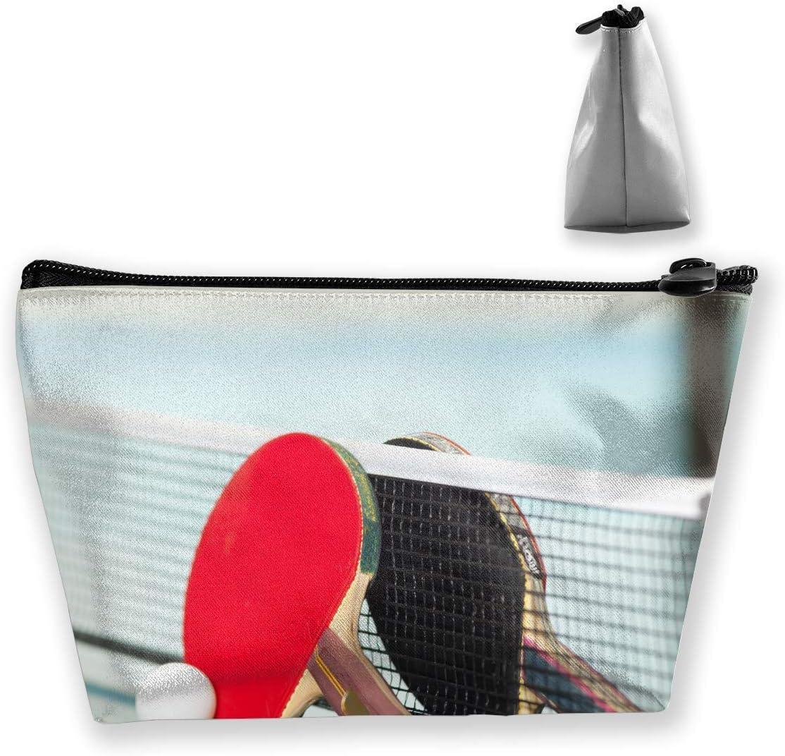 Bolsa trapezoidal para cosméticos, maquillaje, neceser de mesa, diseño de tenis de mesa, viaje