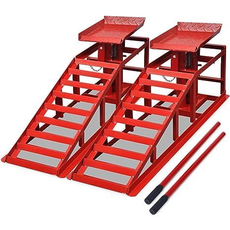 Vidaxl Set 2 Pz Rampe Per Sollevamento Auto Officina In Acciaio