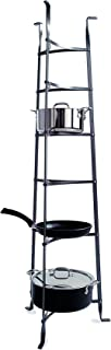 product image for Enclume 6-Tier Cookware Stand, Free Standing Pot Rack, Hammered Steel (Unassembled)