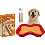 Dog Birthday Cake Kit | Puppy Cake Wheat-Free Peanut Butter Dog Cake Mix and Frosting | Happybotham Silicone Dog Bone Birthday Cake Pan for Dogs, 7-Inch by 10-Inch, Small | Birthday Candles