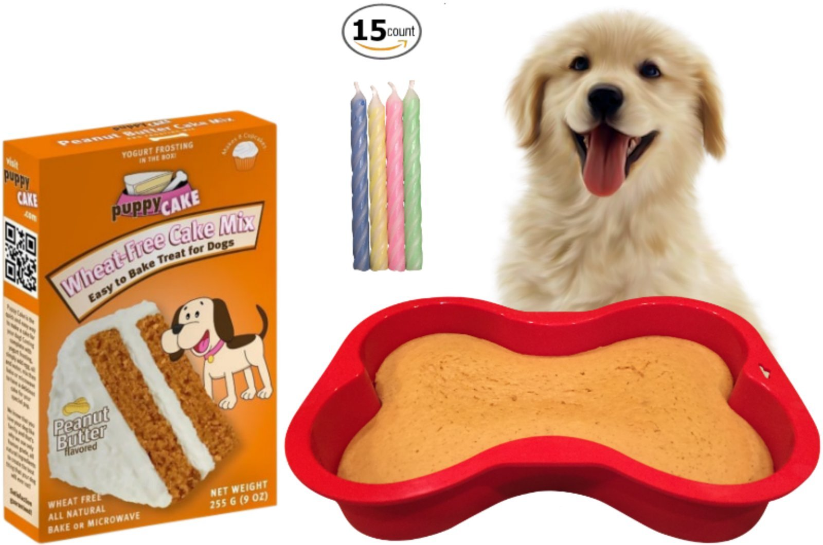 Dog Birthday Cake Kit Puppy Cake Wheat Free Peanut