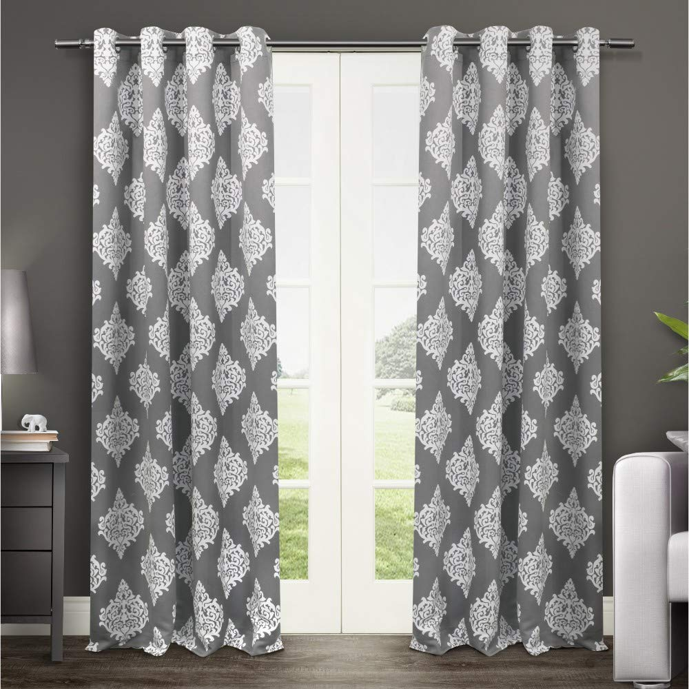 Exclusive Home Medallion Blackout Grommet Top Curtain Panel Pair