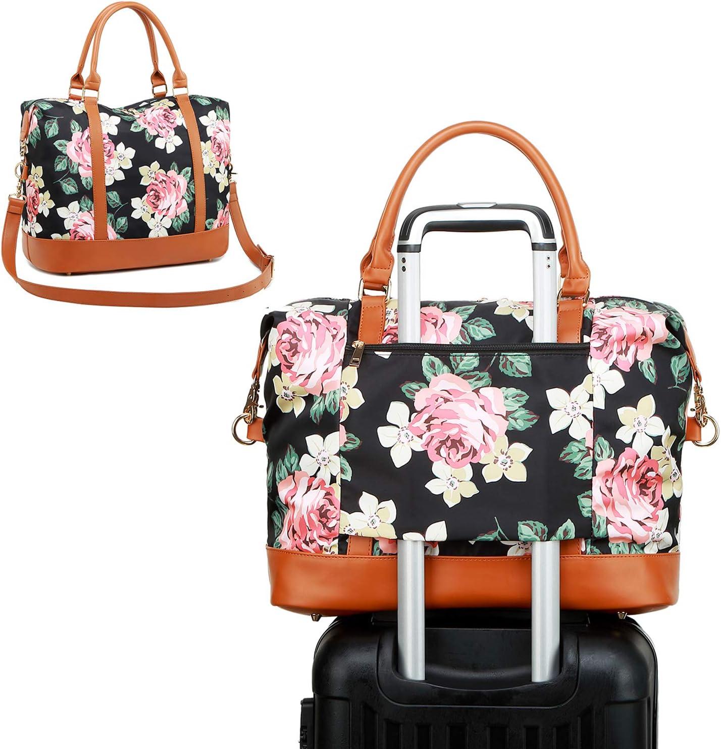 Travel Luggage Duffle Bag Lightweight Portable Handbag Sea Wave Large Capacity Waterproof Foldable Storage Tote