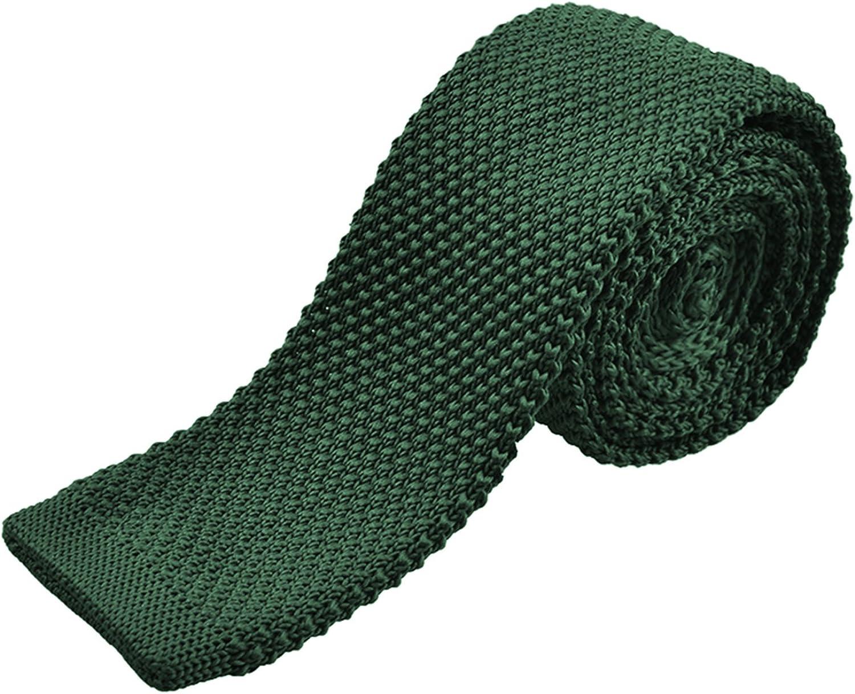 Alizeal Estructura–Corbata Estrecha de Punto para Hombre Verde ...