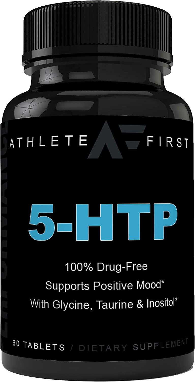 Premium Top-Tier Grade 5-HTP Max Potency 200mg time Release | Mood Support, Natural Sleep Aid & Helps Curb Appetite | Delayed Release, Easier on The Stomach
