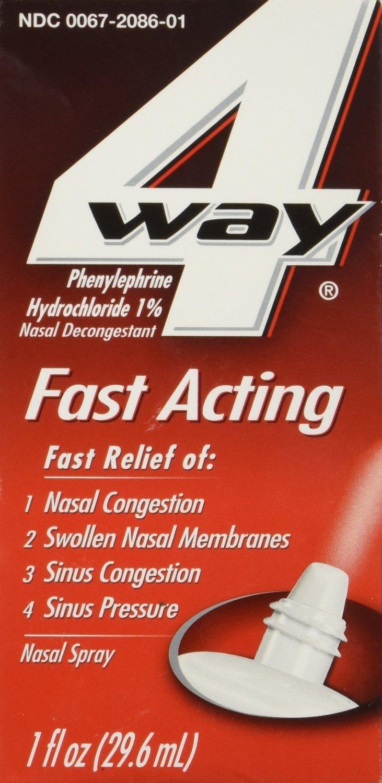 4-Way Fast Acting Nasal Spray, 1 fl.oz. Pr Bottle (3 Bottles) by NOVARTIS CONSUMER HEALTH
