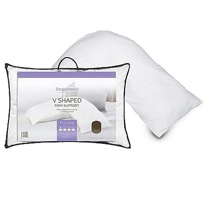 8e4e010cf6b4 Snuggledown of Norway Chevron V Shape Pillow Non allergenic: Amazon.co.uk:  Kitchen & Home