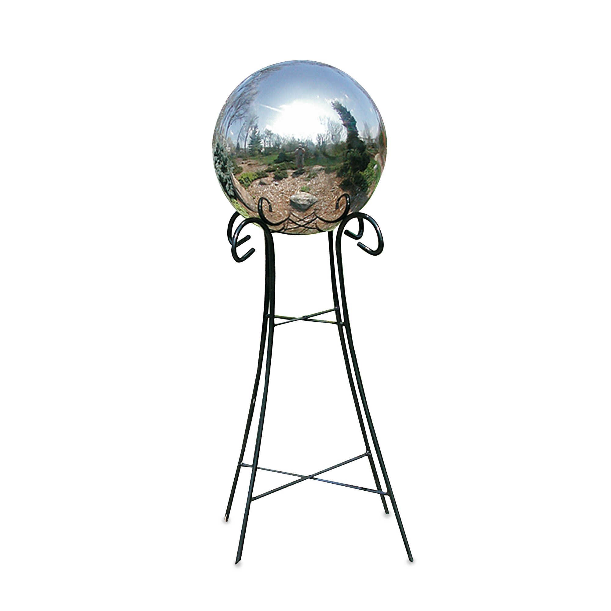 Rome Industries 24-Inch Pedestal Base for 10-Inch & 12-Inch Gazing Balls in Wrought Iron