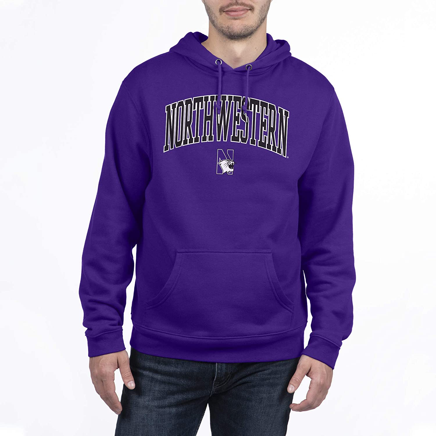 Top of the World Mens Premium Poly Arch Over Hoodie