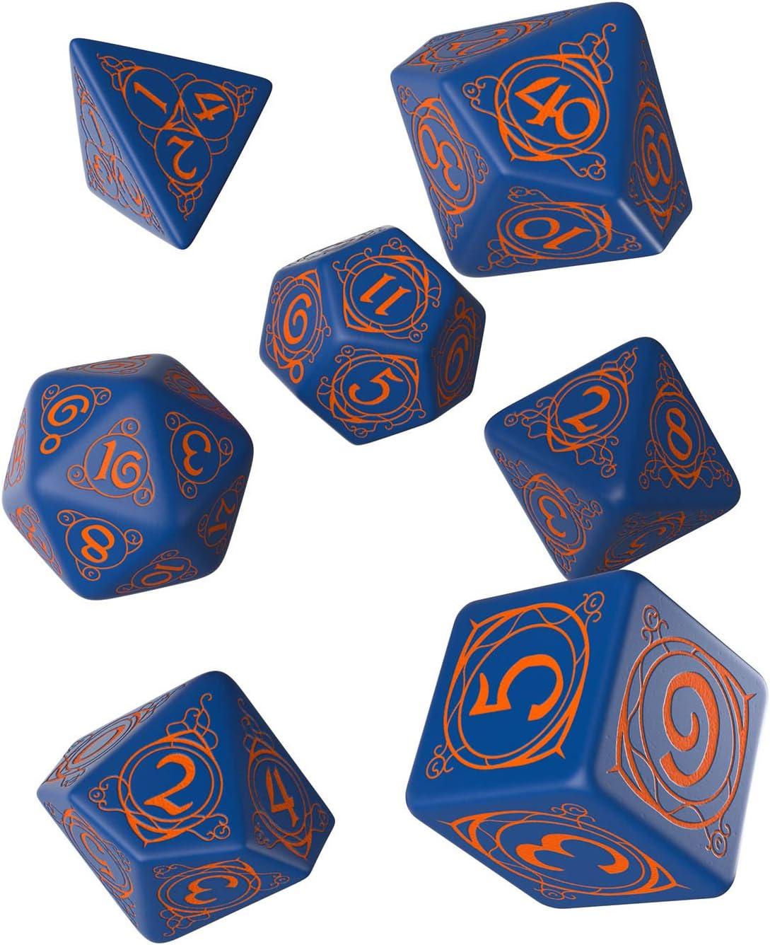 7 Q Workshop Pathfinder Goblin Purple /& Green Dice Set Board Games