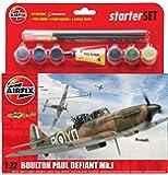 Airfix 1:72 Scale Boulton Paul Defiant Mk.1 Starter Set Model Kit