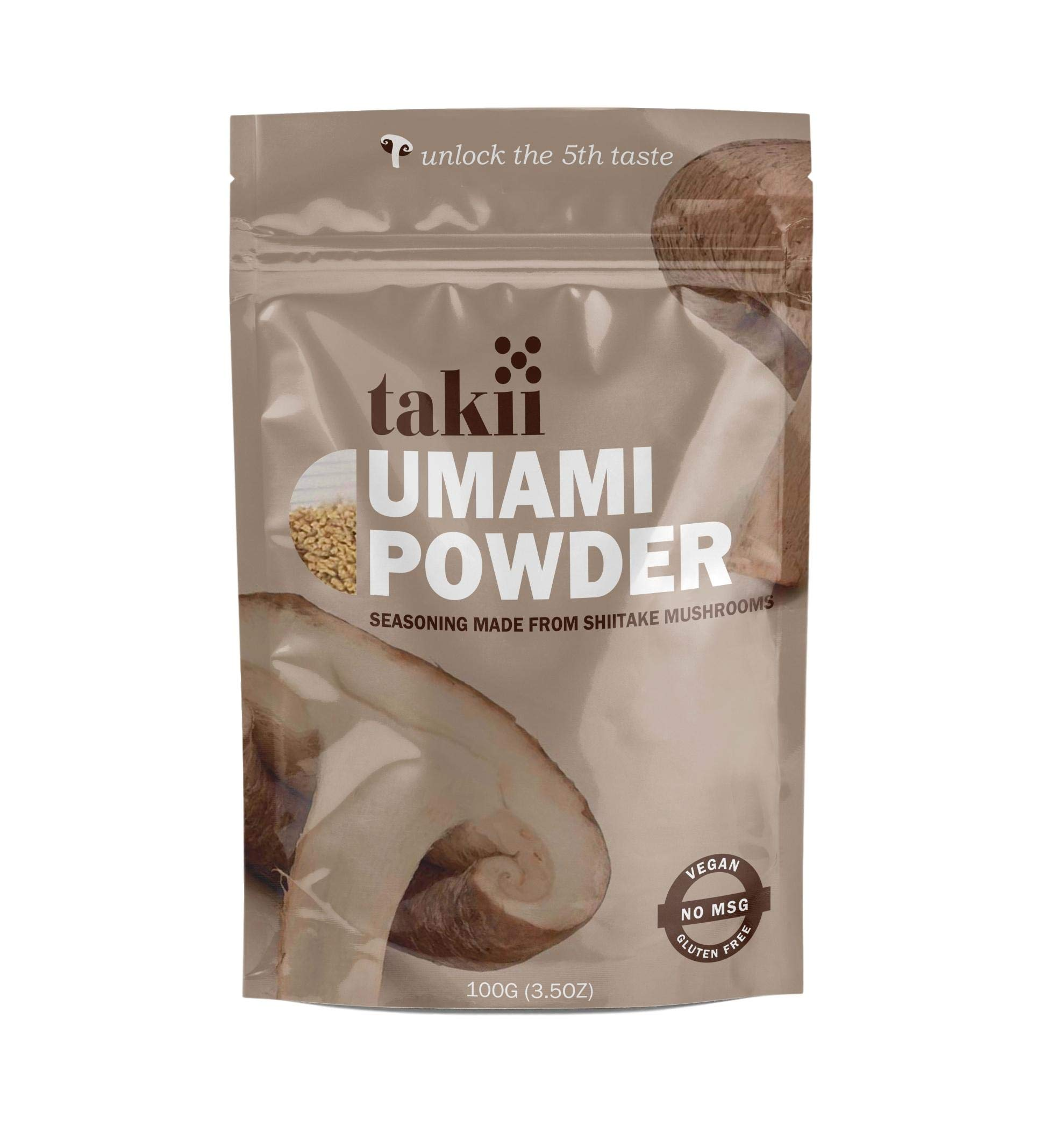 Takii Umami Powder, Magic Shiitake Mushroom Seasoning, Add Instant Flavor and Depth to All Your Favorite Dishes (1-3.5 Ounce Pouch)