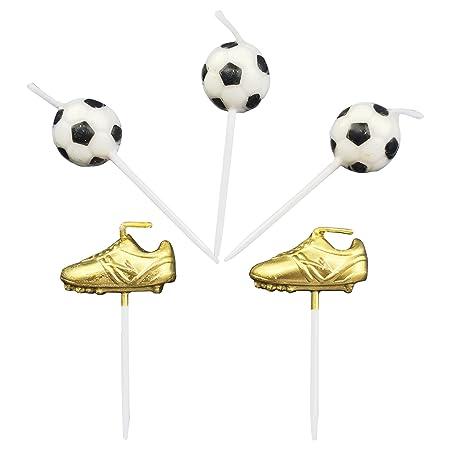 Velas de cumpleaños bolas de fútbol para juego de fútbol con ...