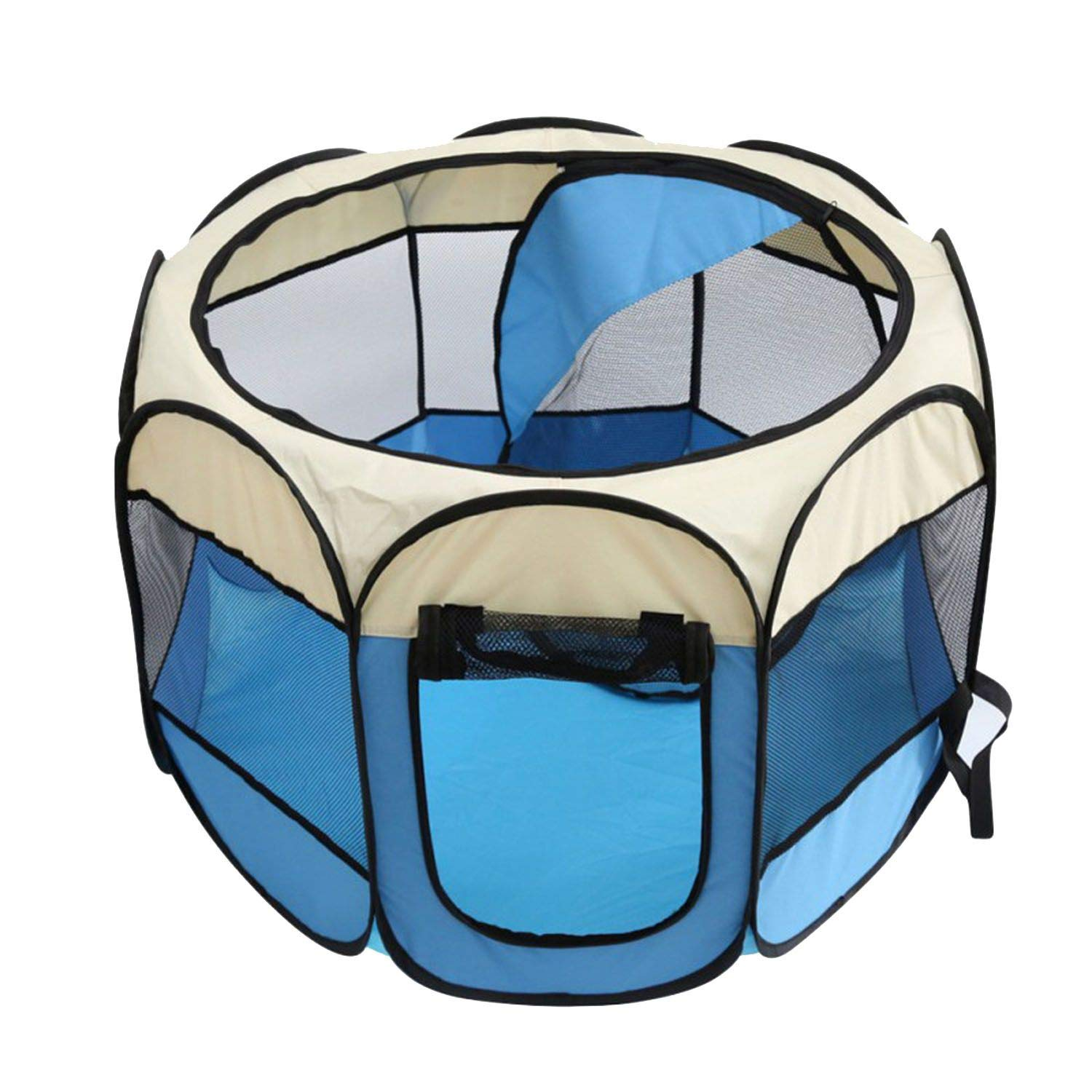 bluee 727245cm bluee 727245cm Portable Folding Pet Tent Dog House Cage Dog Cat Tent Playpen Puppy Kennel Fence Outdoor Supplies,bluee,72  72  45cm