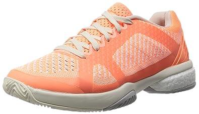 premium selection 417f5 13d5a adidas Asmc Barricade Boost, Chaussures de Tennis Femme, OrangeBlanc  (Ultra Brillant